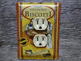 Outlet Covers Made From Luce DeCielo Biscotti Tins