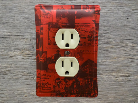 Outlet Covers Made From Levis Strauss Tins