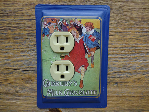 Outlet Cover Made From A Cadburys Milk Chocolate Tin 50% Off Clearance