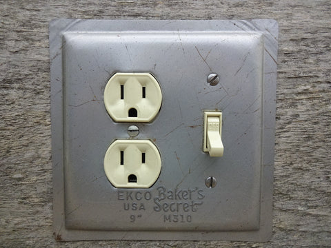 Combo Switch Outlet Cover Vintage Ekco Bakers Secret Cake Baking Pan