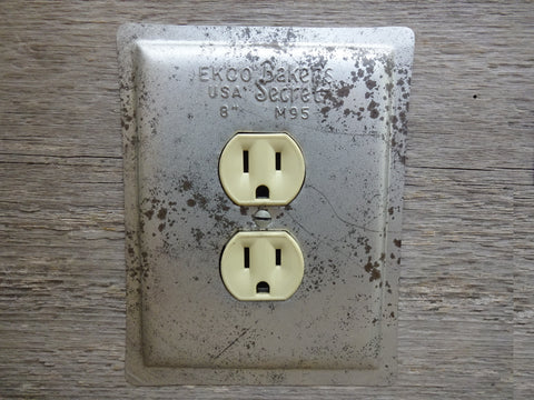 Outlet Covers Made From Vintage Ekco Bakers Secret Cake Pans