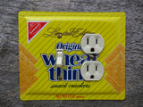 Light Switch Cover Combo Outlet Made From A Nabisco Wheat Thins Tin