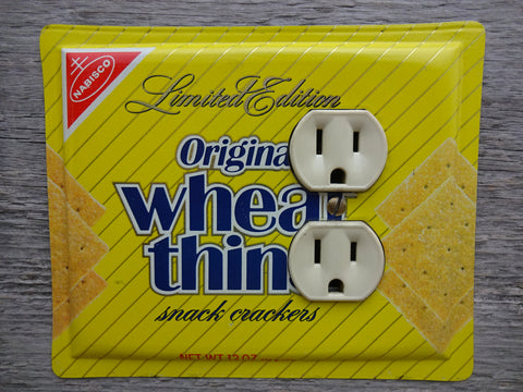 Outlet Covers Made From Nabisco Wheat Thins Crackers Tins 50% Off
