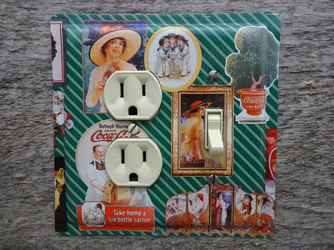 Coca Cola Outlet Covers Combo Switch Plate Made From A Coke Tin