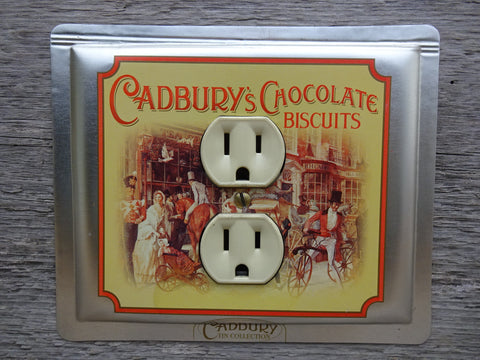 Outlet Covers Made From Old Cadburys Chocolate Biscuits Tins