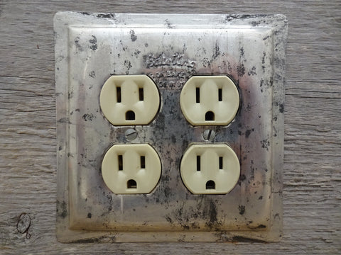 Double Outlet Covers Made From Vintage Bake King Baking Pans