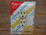 Antique Premium Golden Glow Crackers Tin Outlet Covers