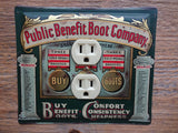 Outlet Covers Made From Public Benefit Boot Company Tins