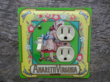 Combo Outlet Covers Made From Amaretti Virginia Italian Candy Tins