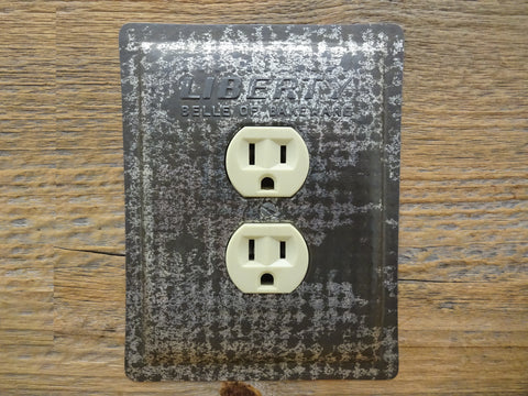 Outlet Covers Made From Vintage Liberty Bakeware Baking Pans