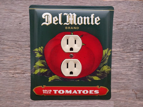 Outlet Covers Made From Vintage Del Monte Tomatoes Tins