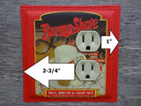 Bathroom Outlet Covers Made From Burma Shave Shaving Tins