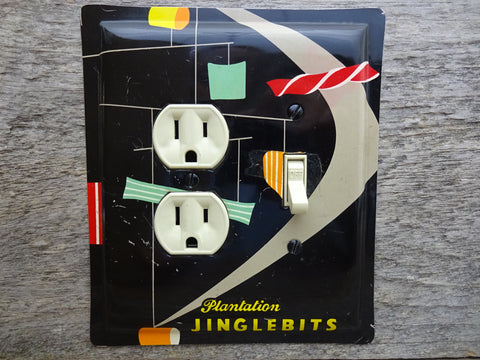 Combo Switch Plates Made From Mid Century Modern Jinglebits Tins