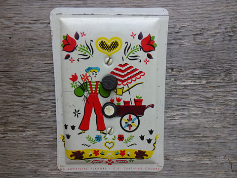 Vintage Push Button Switch Plates Made From Arden Candy Tins