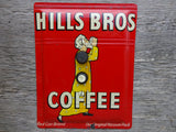 Vintage Push Button Switch Plates Made from Hills Bros Coffee Tins