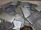 Metal Material Findings Rectangle Pieces Vintage Baking Pans Pack Of 10