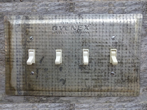 Quad Switch Plates Made From Vintage Ovenex Baking Pans