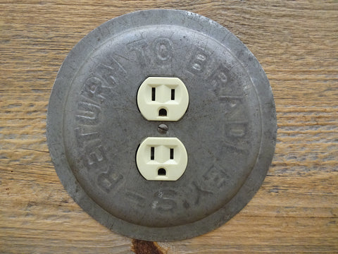 Vintage Bradleys Pie Pans Unique Round Outlet Covers