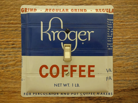 Switch Plates Made From Vintage Kroger Coffee Tins