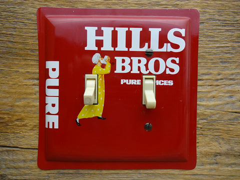 Vintage Hills Bros Brothers Spice Tins Handmade Switch Plates