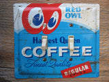 Vintage Red Owl Coffee Tin Double Switch Plates