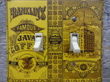 Light Switch Cover Made From A Franklins Java Coffee Tin