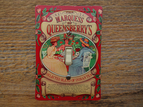 Marquess Of Queensberrys Tea Tins Handmade Switch Plates