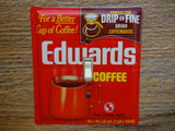 Vintage Edwards Coffee Light Switch Plates Made From Tins