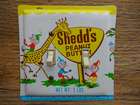 Switch Plates Made From Vintage Shedds Peanut Butter Tins