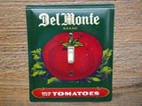 Switch Plates Made From Vintage Del Monte Tins Tomato Fruit Vegetable
