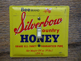 Switch Plates Made From Vintage Bee Brand Silverbow Honey Tins