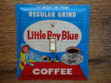 Light Switch Plates Made From Vintage Little Boy Blue Coffee Tins