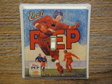 Football Switch Plates Made From Kelloggs Pep Bran Flakes Cereal Tins