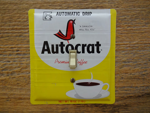 Vintage Autocrat Coffee Tins Made Into Switch Plates