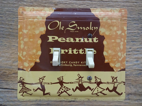 Vintage Switch Plates Made From Mid Century Candy Tins