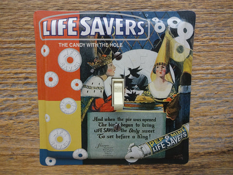 Pep-O-Mint Lifesavers Tin Switch Plate