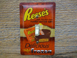 Retro Switch Plates Made From Reese's Peanut Butter Cup Tins