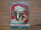 Yorkie Dog Lovers Switch Plate Made From A Tin Canister Set