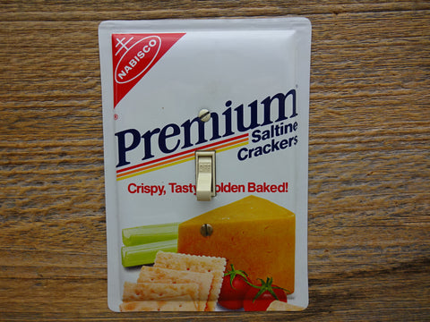 Light Switch Plates Made From Nabisco Premium Crackers Tins