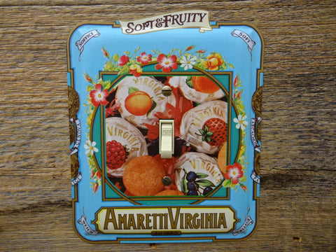 Switch Plates Made From Amaretti Virginia Candy Tins