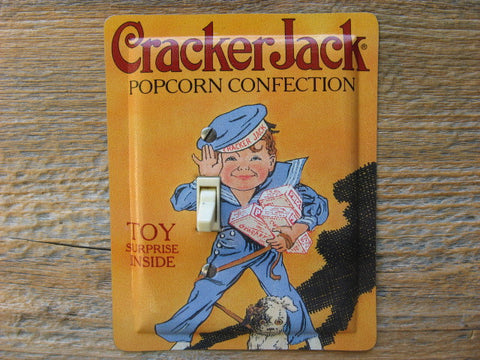 Switch Plate Made From A Cracker Jack Tin