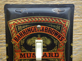 Switch Plate Made From An Old Barringer & Brown Mustard Tin