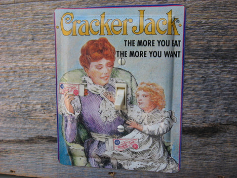 Cracker Jack Tin Switch Plate 50% Off Clearance