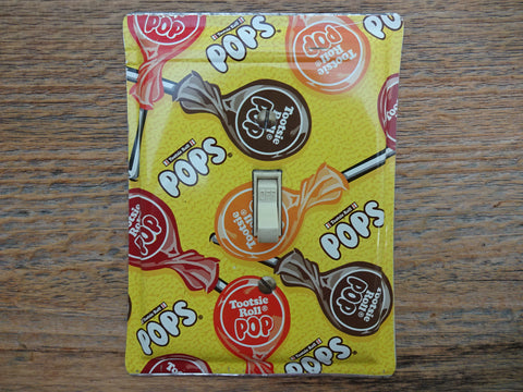 Single Switch Plate Made From An Old Tootsie Roll Pops Tin Pail SP-0169*
