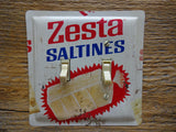 Double Switch Plates Made From Vintage Keebler Zesta Saltines Tins