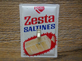 Vintage Keebler Zesta Saltines Tins Made Into Light Switch Plates
