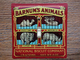 Switch Plates Made From Vintage Barnum Animal Crackers Tins