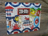 Patriotic Switch Plate Made From An Old M&M Candy Tin 50% Off Clearance SP-0219S
