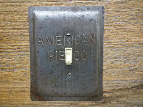 Vintage American Pie Co Baking Pan Switch Plates Made From Unique Pan