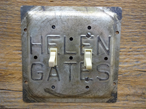 Vintage Helen Gates Pie Pans Double Switch Plates
